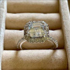 NADRI Cushion Square CZ Ring - Size 4 3/4-5